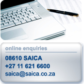 Online enquiries: 0861 SAICA | +27 11 621 6600
